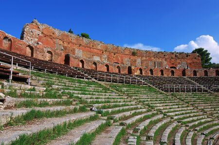 3rd century: The antique theatre of Taormina, constructed by the Greeks in the 3rd century BC is one of the most famous antique theatres in the world, and the largest in the Mediterranean.