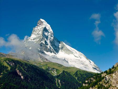 Matterhorn szczyt w Alpach Szwajcarii