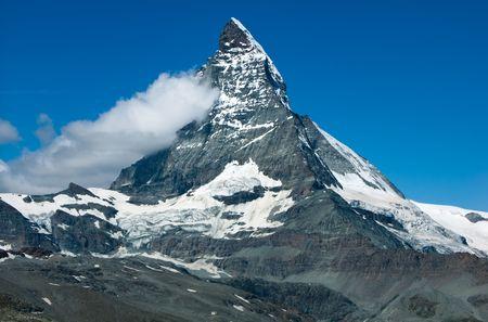 Matterhorn summit in Switzerland Alps 免版税图像 - 7304610