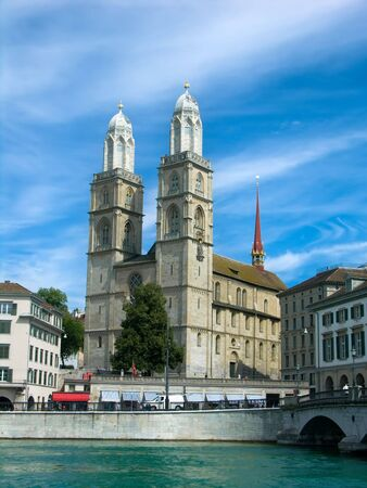 grossmunster cathedral: The Grossmunster (great minster) is one of the three major churches in Zurich.