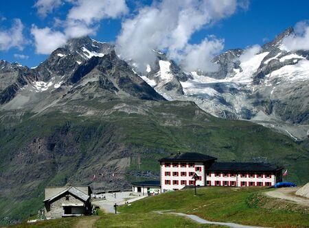 Zermatt Alps resort landscape in Switzerland 免版税图像