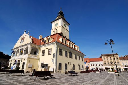 The city center is marked by the mayors former office building and the surrounding square, which includes one of the oldest buildings in Bra?ov photo
