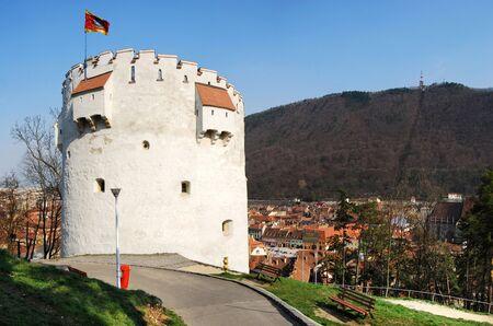 xv century: White Tower of Brasov Fortress (XV century), landmark of Transylvania, Romania