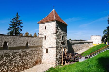 resistence: The Carpenters Tower. Defense tower of Brasov fortress, from XV century.