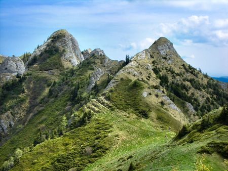 Zaganu towers are spectacular in Ciucas mountains (Eastern Carpathians of Romania)