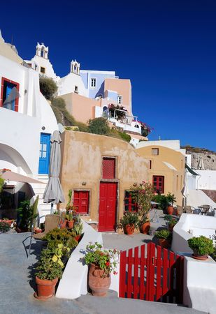 santorini caldera: Oia is a community on the islands Thira (Santorini) and Therasia, in the Cyclades, Greece.