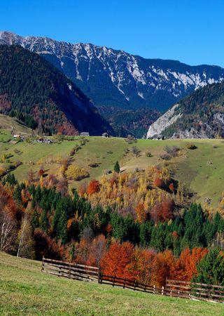 Autumn rural landscape in Romania photo