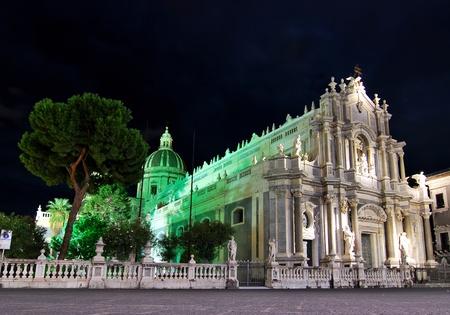 sant agata: The cathedral of SantAgata in Catania stands, according to tradition, on the spot where Saint Agatha died a martyrs death in 251. The building of cathedral begun between 1086 and 1090 after Catania was conquered by the Normans under Roger I (1085).