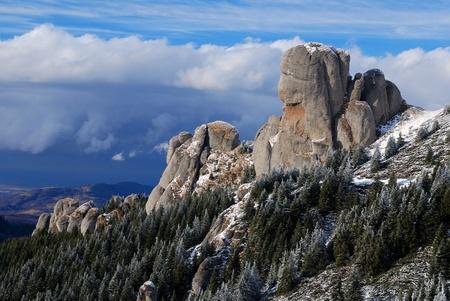 Rocky mountains in Carpathian ridge, Romania, eastern Europe Stock Photo - 8334713