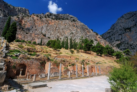 Site of Delphi oracle, ancient landmark of Greece Stock Photo - 8483919