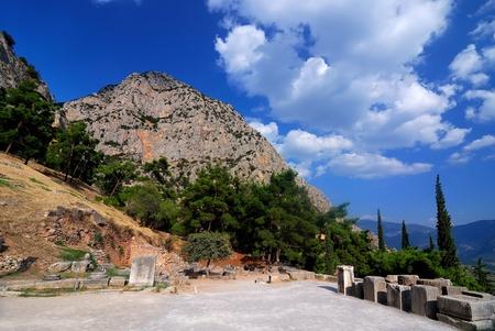 delfi: Site of Delphi oracle, ancient landmark of Greece