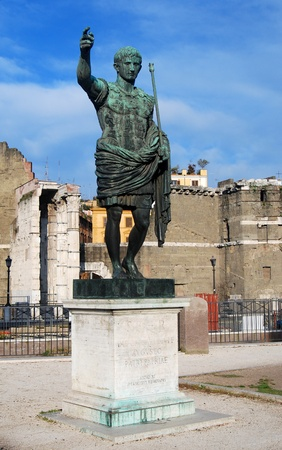 Emperor of Rome, Augustus, roman forum photo