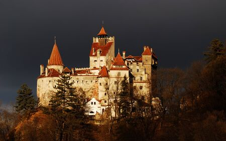 brasov: Medieval Bran castle in Romania, known for Dracula story