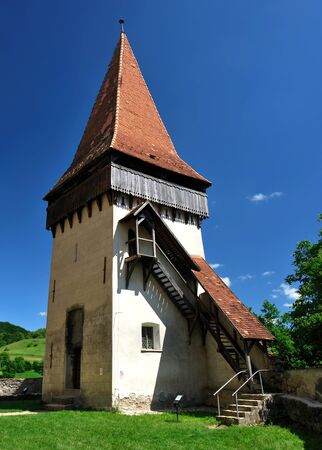 biertan: Biertan fortess tower, Transylvania, Romania
