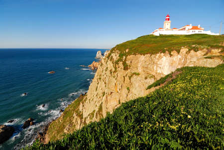 Cabo da Roca (Cape Roca) is the most western of Portugal and Europe. Stock Photo - 9206166