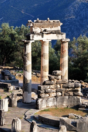 The Tholos at the sanctuary of Athena Pronaia, Delphi, Greece photo