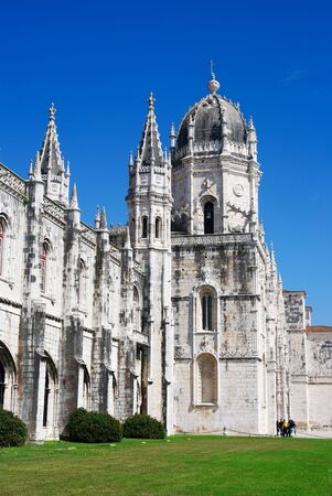 The Hieronymites Monastery is located in the Belem district of Lisbon, Portugal.  Stock Photo - 9390374