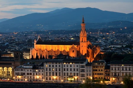 Basilica di Santa Croce (Holy Cross) is the principal Franciscan church in Florence, Italy Stock Photo - 9760106