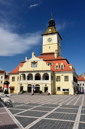 brasov: Council Square of Brasov, public landmark in Romania Stock Photo