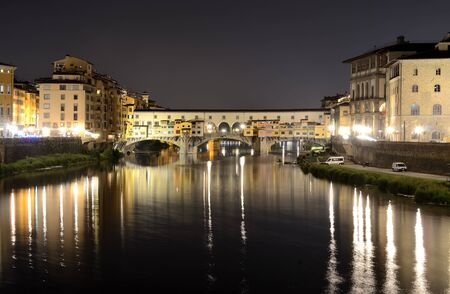 Ponte Vecchio, medieval bridge in Florence, Tuscany photo