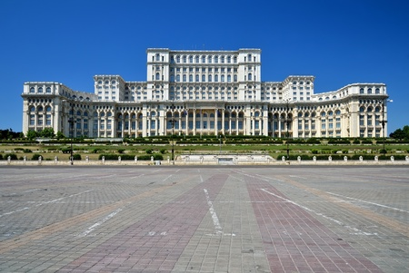 The Palace of the Parliament, the second largest building in the world, built by dictator Ceausescu