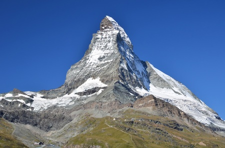 helvetia: Matterhorn (Monte Cervino) is one of the highest summits from Europe. Zermatt, Switzerland