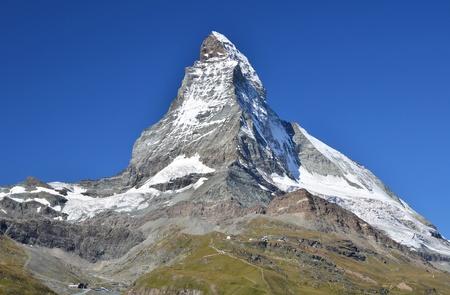 Matterhorn (Monte Cervino) is one of the highest summits from Europe. Zermatt, Switzerland