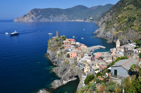 The small village Vernazza, Cinque terre, Italy.