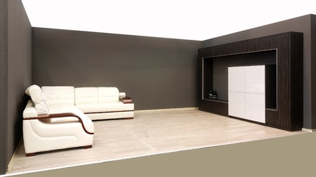 An image of a modern luxury living roomwhite sofa. Stock Photo - 10835940