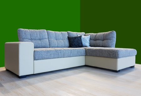 L shape fabric four sitter sofa Stock Photo - 10835950