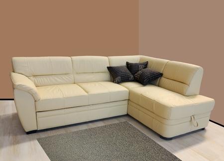 L shape fabric four sitter sofa Stock Photo - 10835947