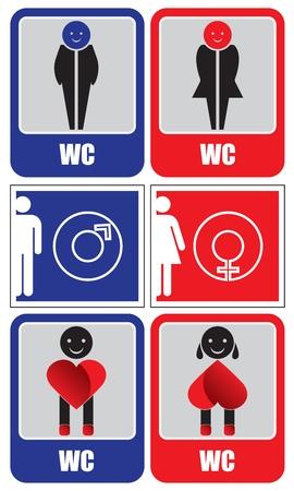 unisex: Signos de aseo Vectores