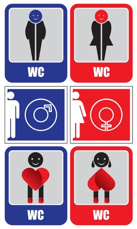 bath room: Toilet signs