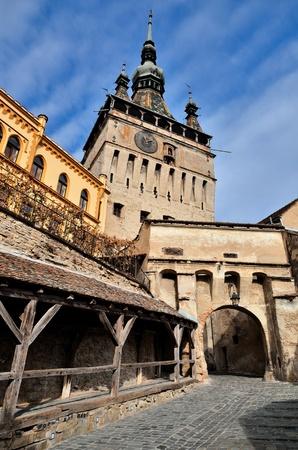 Sighisoara, Clock Tower, saxon landmark of Transylvania in Romania