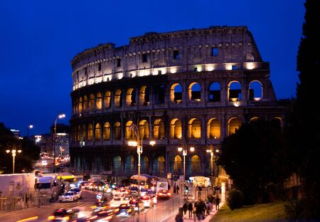 The Colosseum, famous ancient ampitheater, Rome, Italy