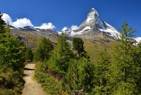 Matterhorn (Monte Cervino), Switzerland. One of the highest mountains from Alps and Europe