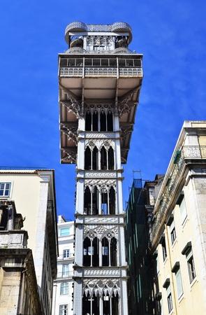 elevador: Elevador de Santa Justa, Lisbon, Portugal Stock Photo