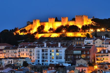 Castle of Sao Jorge  is medieval castle overlooking the city of Lisbon, the capital of Portugal, dates from medieval time