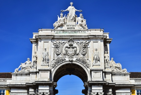 augusta: The arch of Augusta Rua is an historical building in Lisbon, Portugal, on Commerce Square