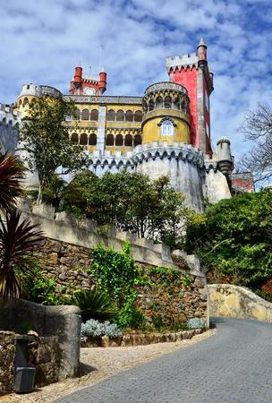 Pena Palace, built on Serra de Sintra, Portugal Stock Photo - 13847487