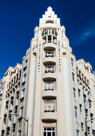 artdeco: Uni�n de construcci�n en Bucarest, 1930 arquitectura art-deco en Rumania Editorial