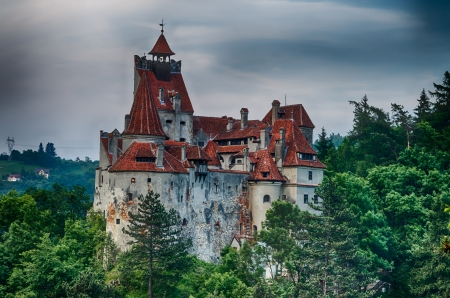 Medieval Bran castle in Romania