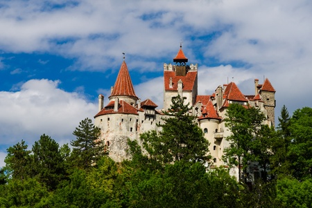 The medieval Castle of Bran guarded in the past the border between Wallachia and Transylvania