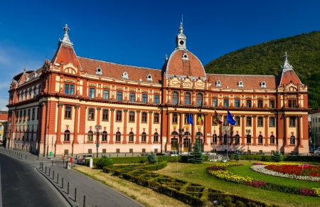 brasov: Central administration building of Brasov county, in Romania, XIXth century neobaroque architecture style  Stock Photo