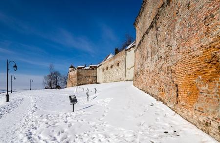 strategically: Brasov Citadel winter time, Romania