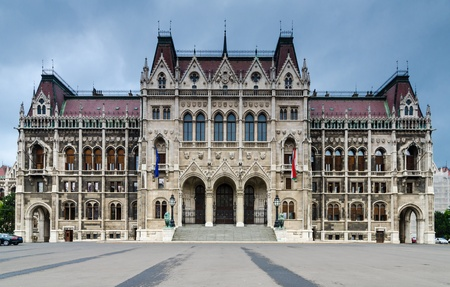 danubian: Parliament of Hungary, landmark in Budapest Editorial