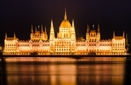 nightview: The Hungarian Parliament Building is the seat of the National Assembly of Hungary, one of Europe