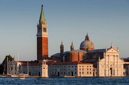 San Giorgio Maggiore is a Benedictine church in Venice, northern Italy, built in XVIth century. The church is a basilica in the classical renaissance style  with white marble on facade. photo