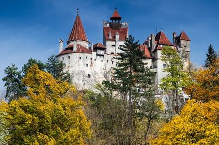 Bran Castle in autumn, landmark of Romania  Transylvania  新闻类图片