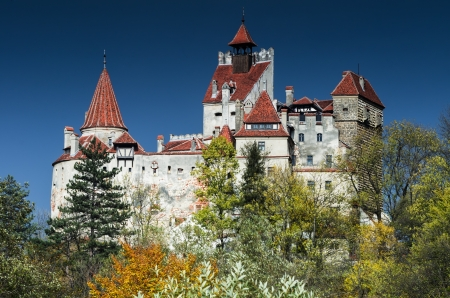 Medieval Bran Castle, guarded in the past the border between Wallachia and Transylvania
